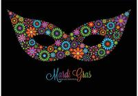 Free Vector Colorful Flowers Mardi Gras Mask - Download ...