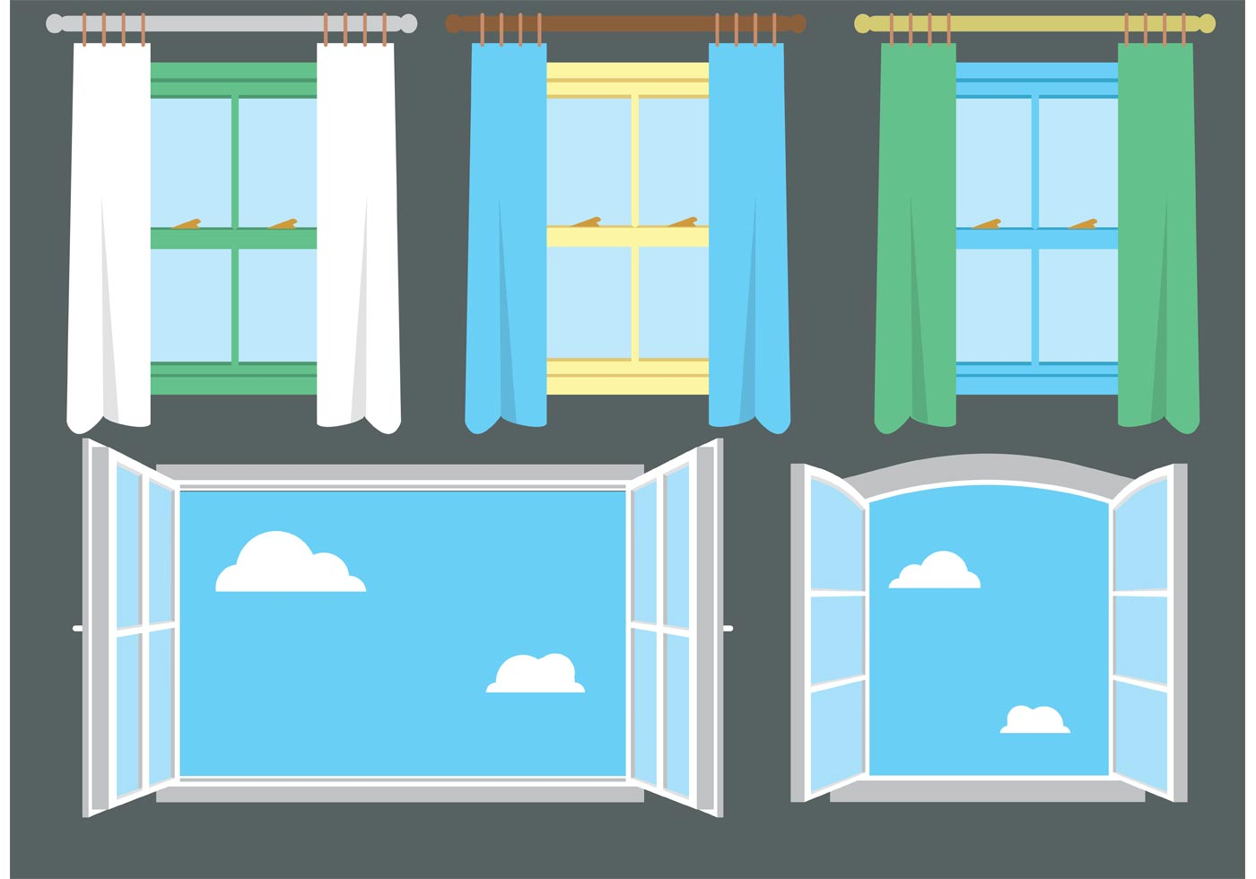 Free Vector Window Set 2 Download Free Vectors Clipart Graphics Amp Vector Art