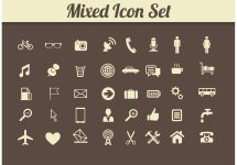 Retro Mixed Media Icon Vectors - Free Vector Art