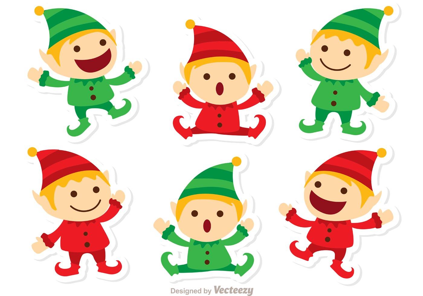 Santas Elves Christmas Vector Pack
