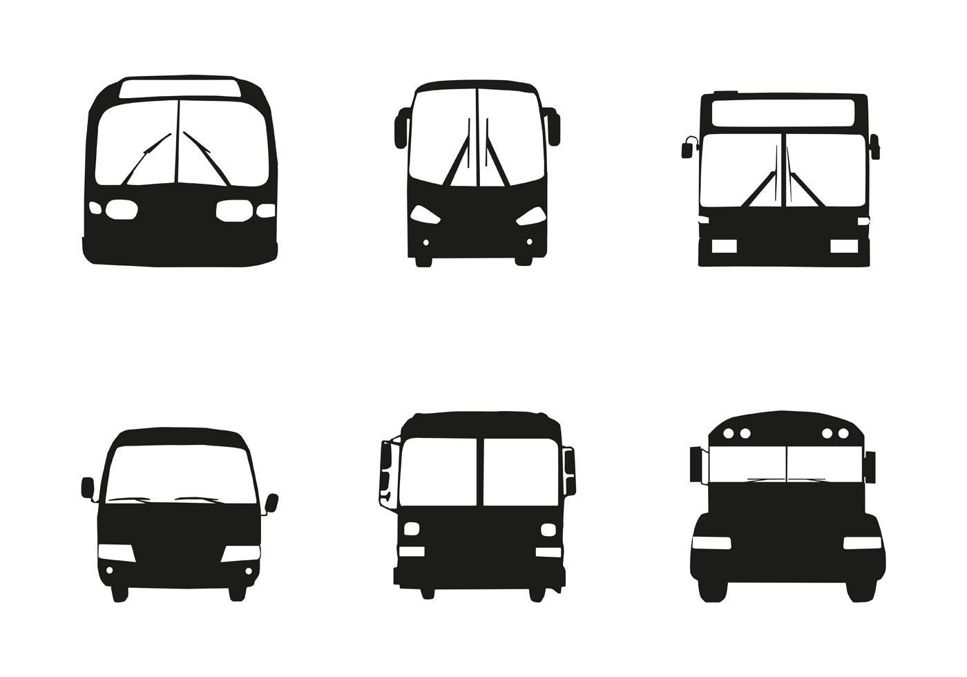 Gratis Vector Bus Car Silhouette Front