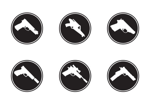 Gun Shapes Icons - Free Vector Art Stock