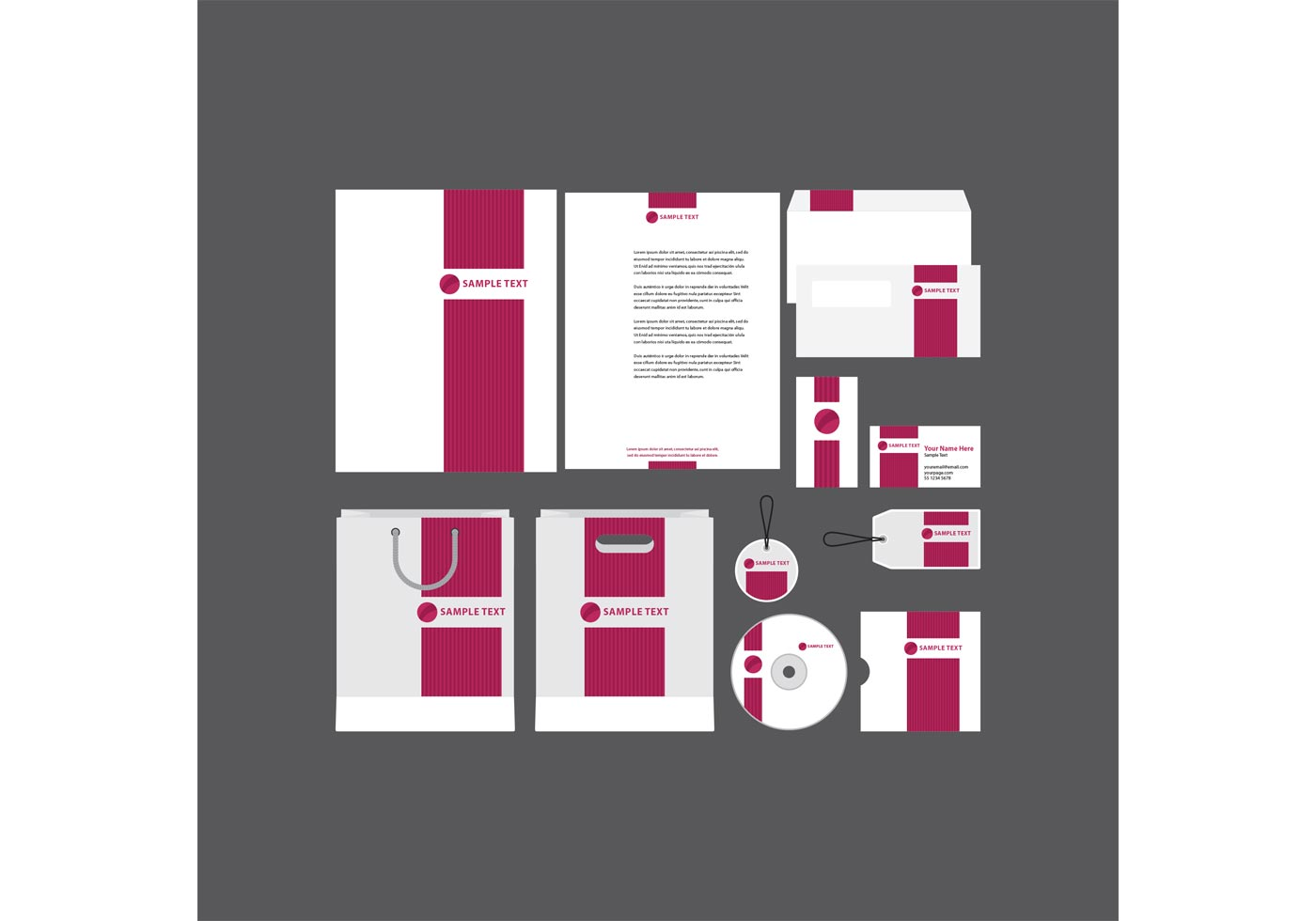 Bold Pink Company Profile Template  Download Free Vector Art Stock Graphics  Images