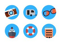 Summer Travel Icon Vectors - Free Vector Art