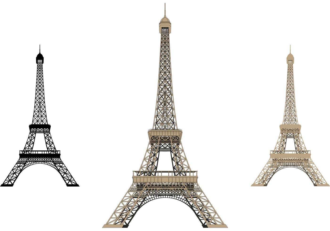 Cute Popsicle Wallpaper Eiffel Tower Isolated Download Free Vector Art Stock