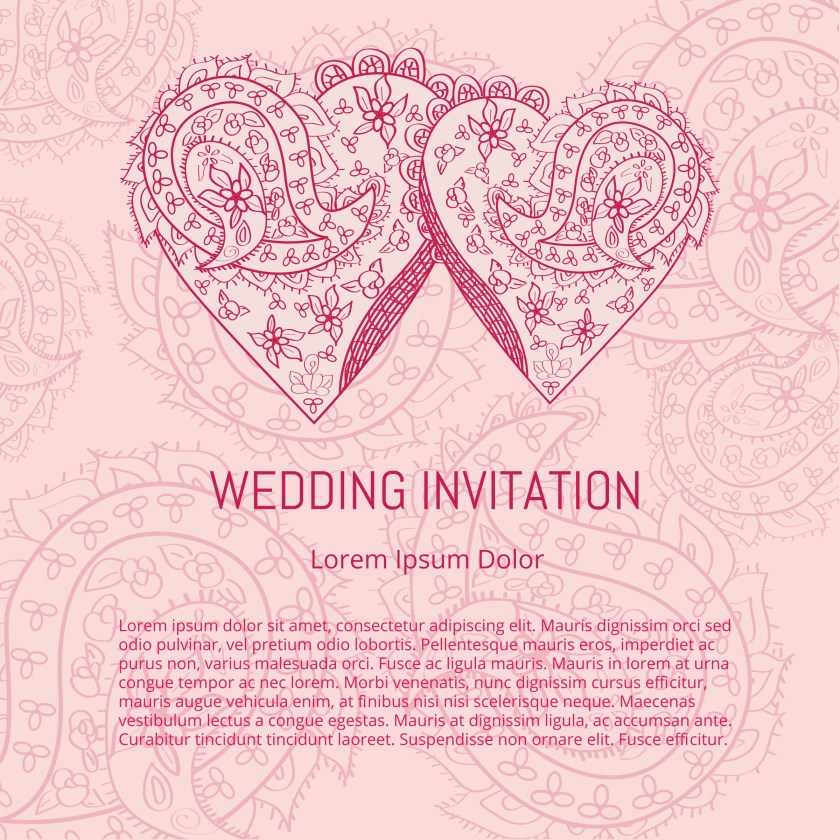 Indian Wedding Card Vector Free Art Stock Graphics Images