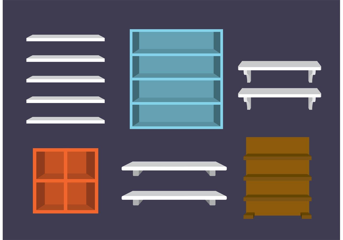 3d Shelves Vectors  Download Free Vector Art Stock