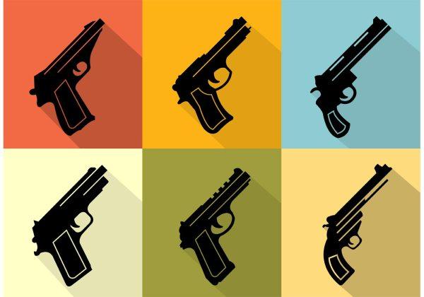 Gun Collection Icons - Free Vector Art Stock