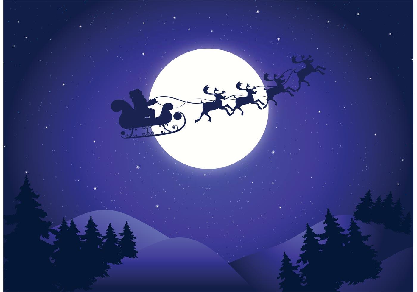 Vector Santas Sleigh Background  Download Free Vector