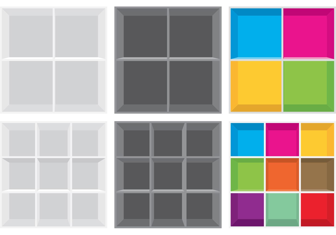 Simple Square 3D Shelves  Download Free Vector Art Stock Graphics  Images