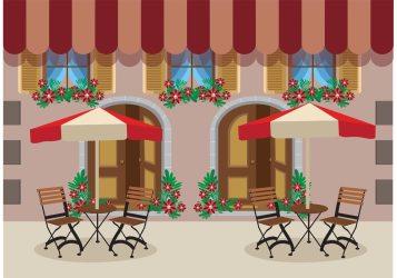 Outdoor Cafe Vector Background Download Free Vectors Clipart Graphics & Vector Art