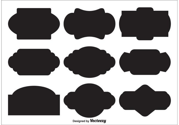 Vector Label Shapes - Free Art Stock