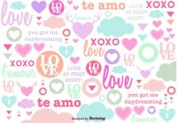 Cute Love Background - Download Free Vector Art, Stock ...