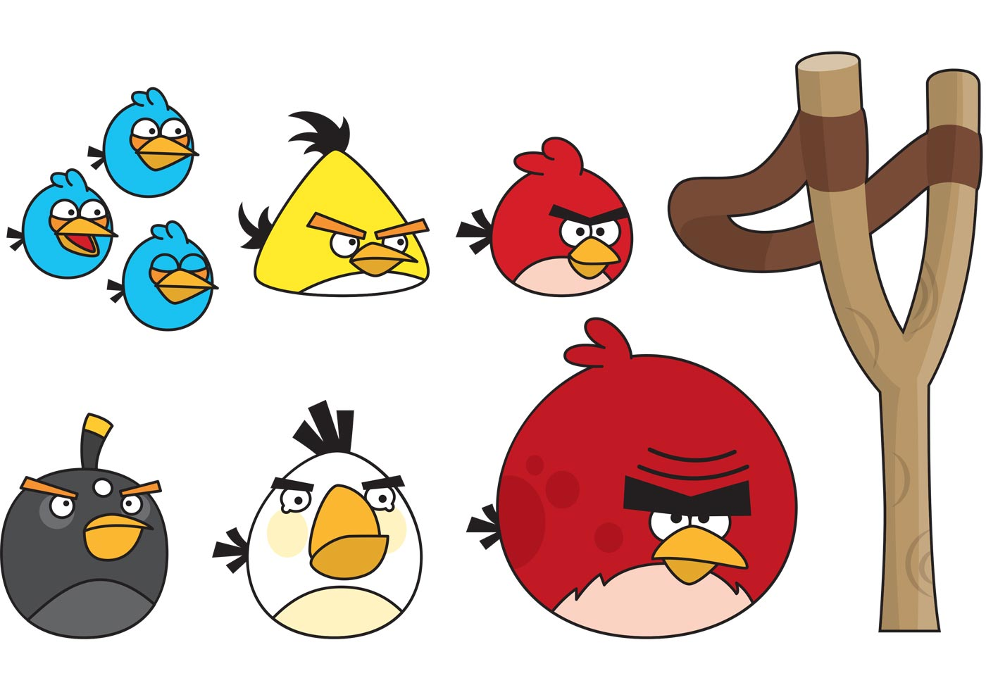 Angry Birds Game Free Vector Art