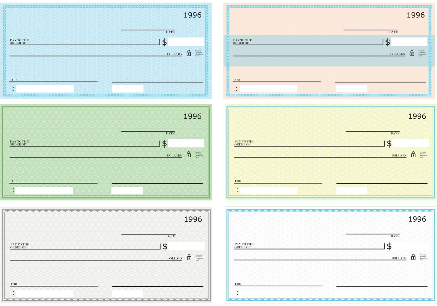 Blank Check Vector Pack
