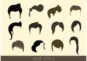 stylish hair style vectors