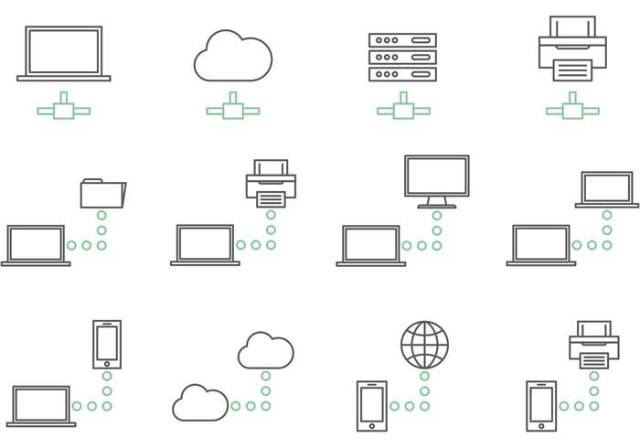 Big Data Network Icon Vectors Download Free Vector Art Stock