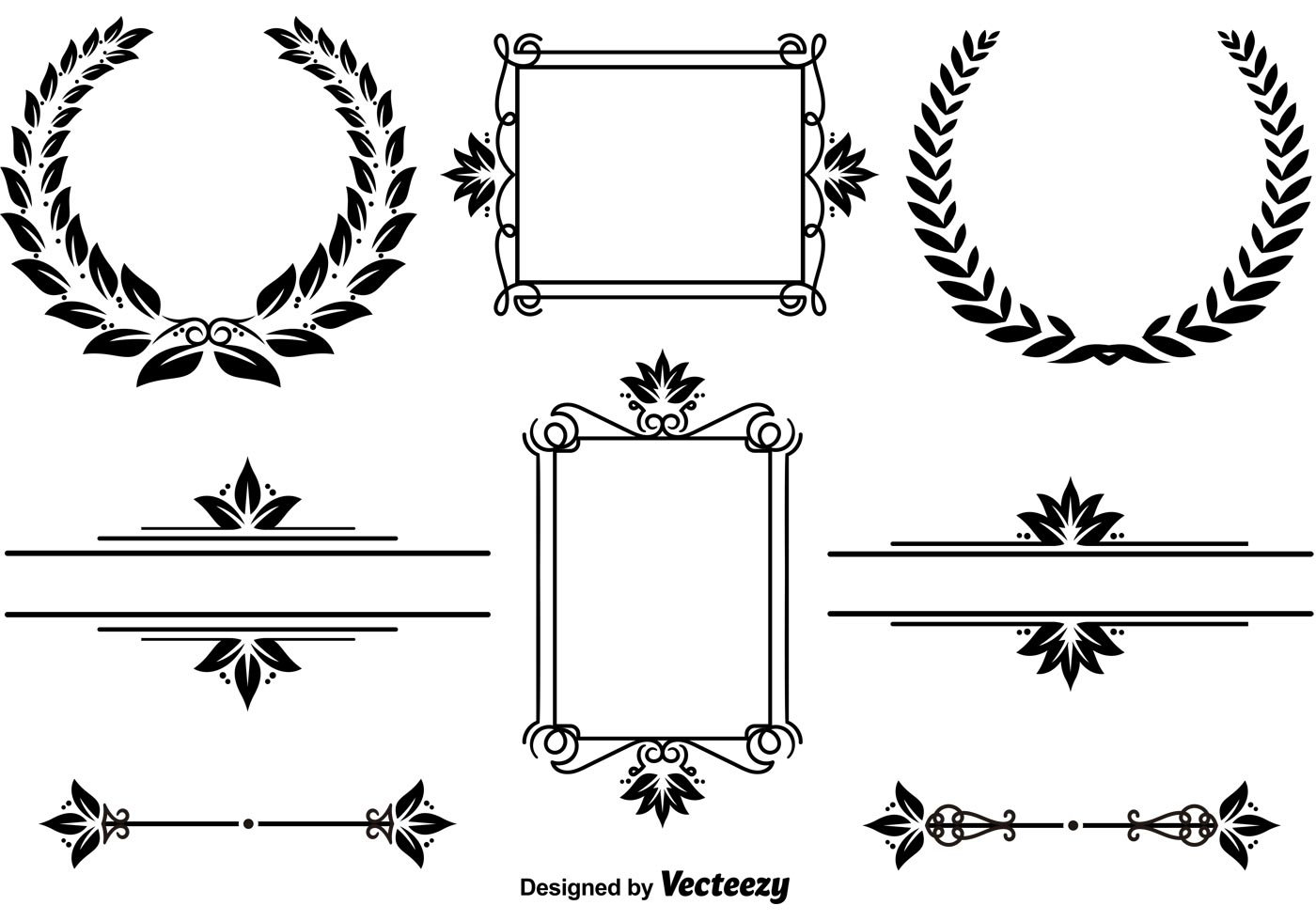 Elegant Frames And Wreaths