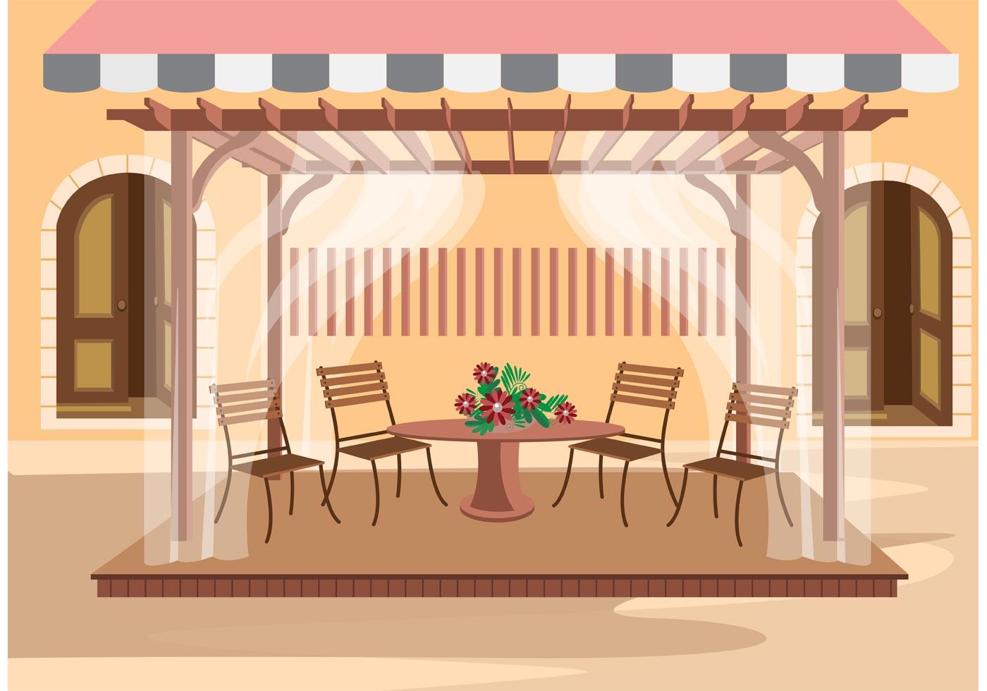 Outdoor Cafe Vector  Download Free Vector Art Stock
