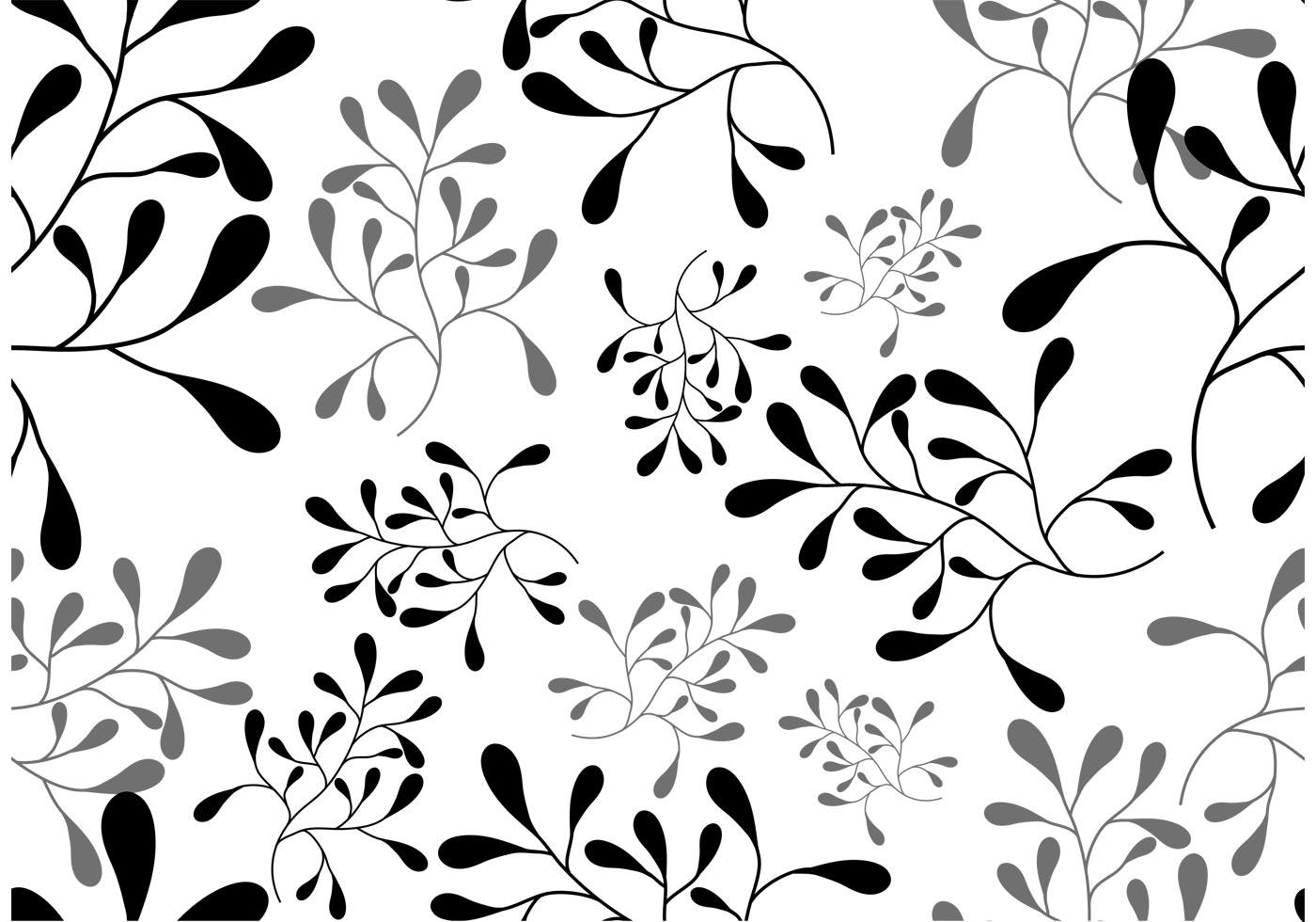Vector Leaf Seamless Pattern