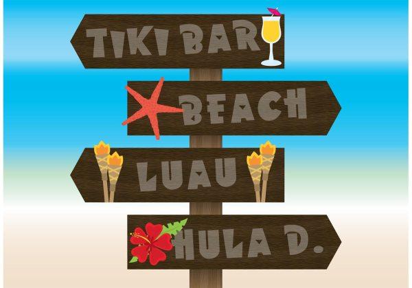 Hawaii Beach Sign Vectors - Free Vector Art