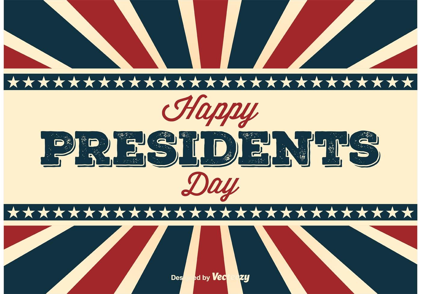 Retro Presidents Day Poster