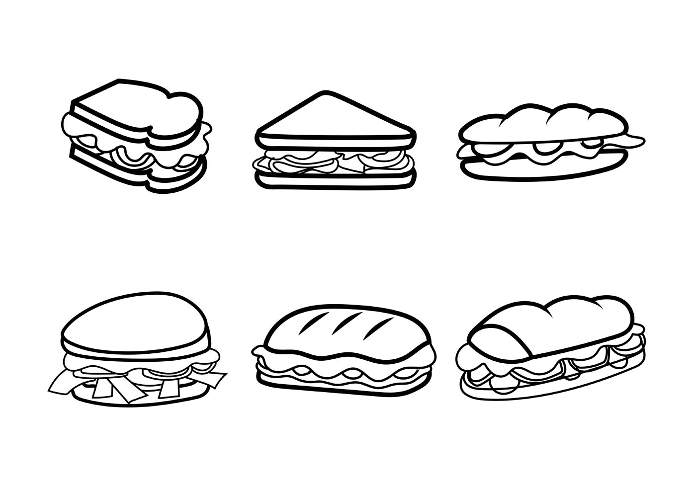 Club Sandwich Free Vector Art