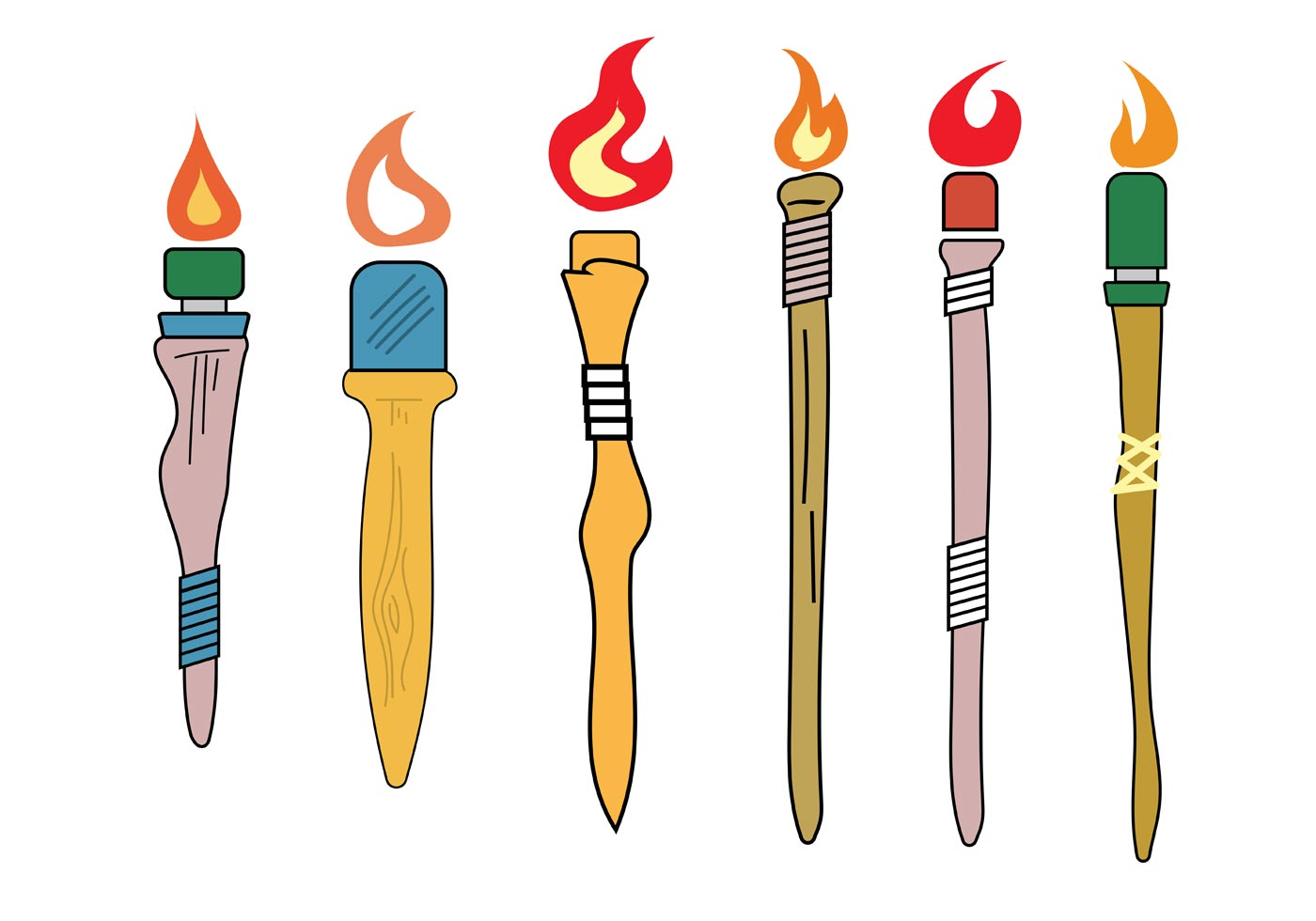 Vector Tiki Torches Download Free Vector Art Stock