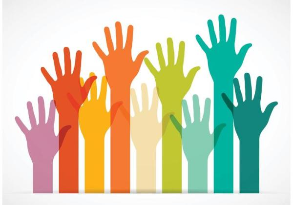 Vector Colorful Reaching Hands Download Free Vector Art