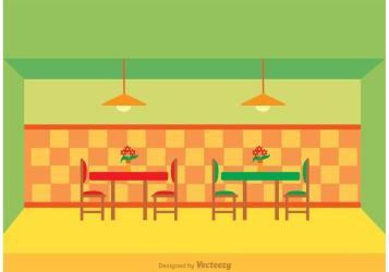 Restaurant Interior Vector Download Free Vectors Clipart Graphics & Vector Art