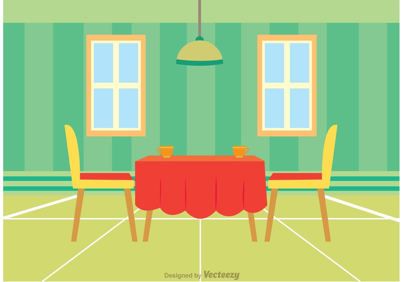 Interior Of Restaurant Vector Download Free Vector Art