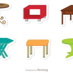Modern Drafting Chair White Table Flat Icons Vector - Download Free Art, Stock Graphics & Images