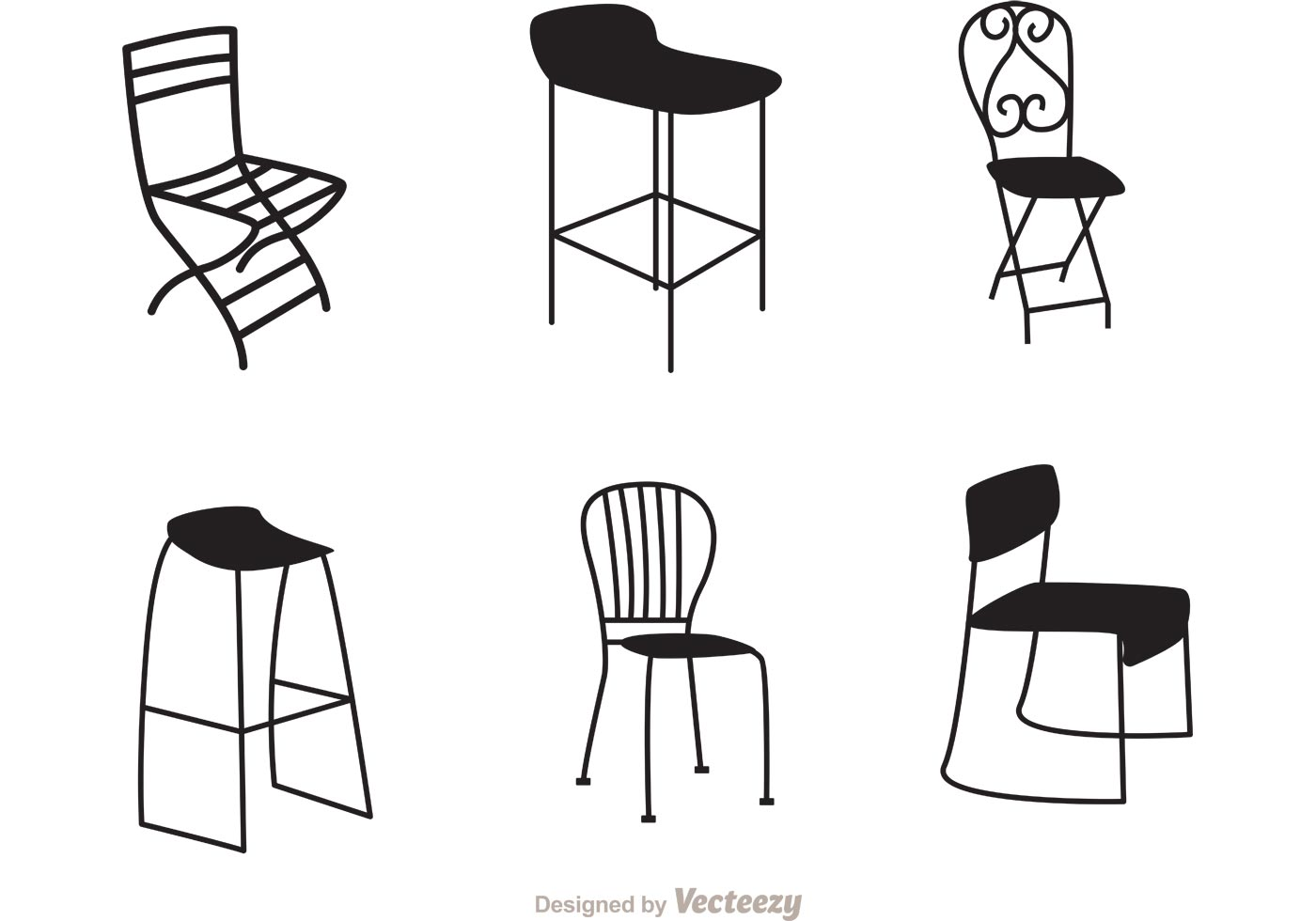 office chair vector ashley furniture dining chairs restaurant black vectors download free art