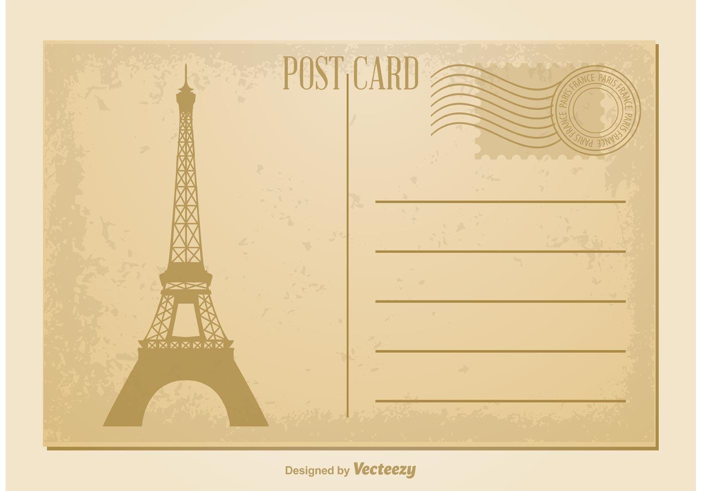 Vintage Postcard Vector Download Free Vector Art Stock