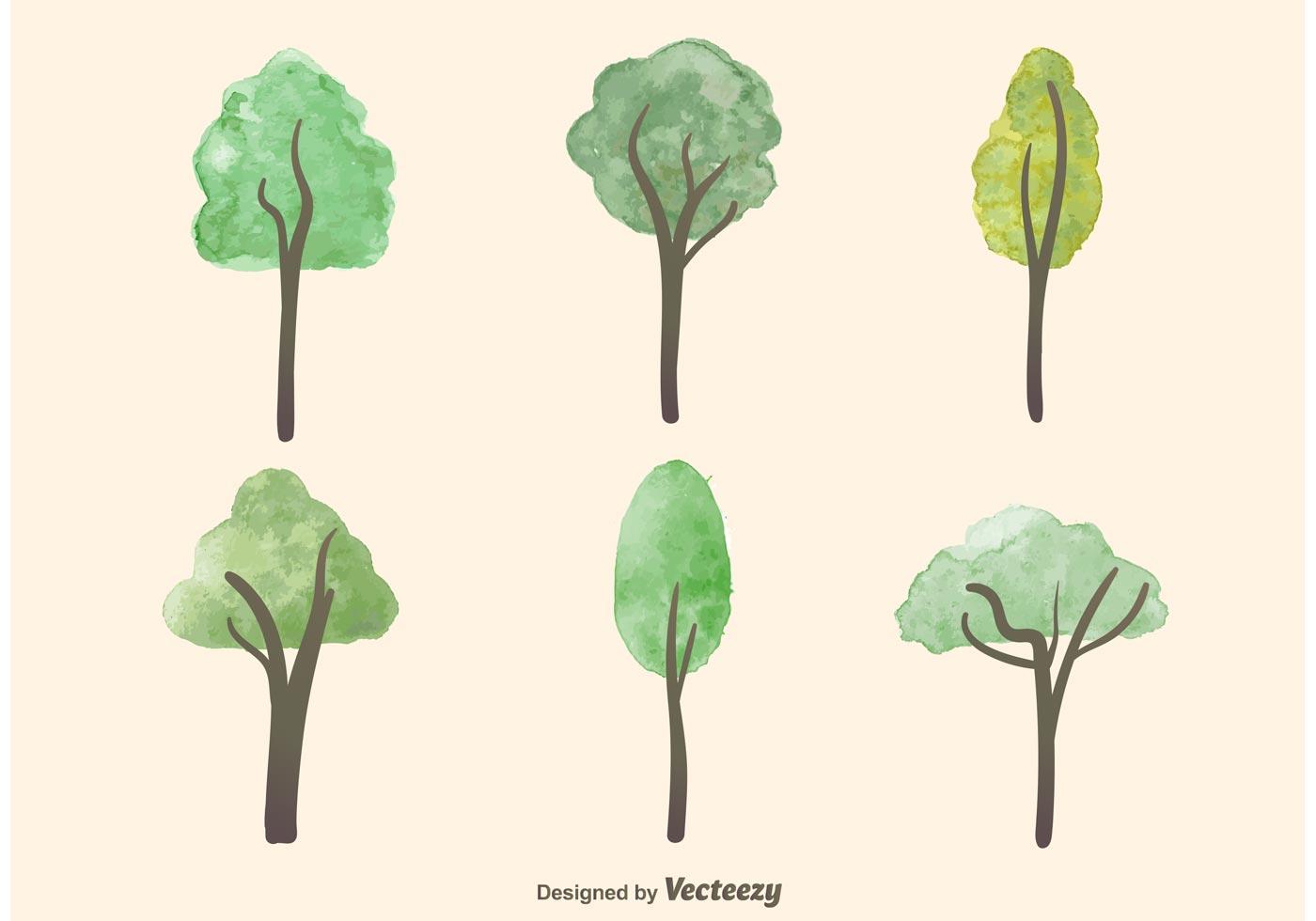 Paint Falling Wallpaper Watercolor Tree Vectors Download Free Vector Art Stock
