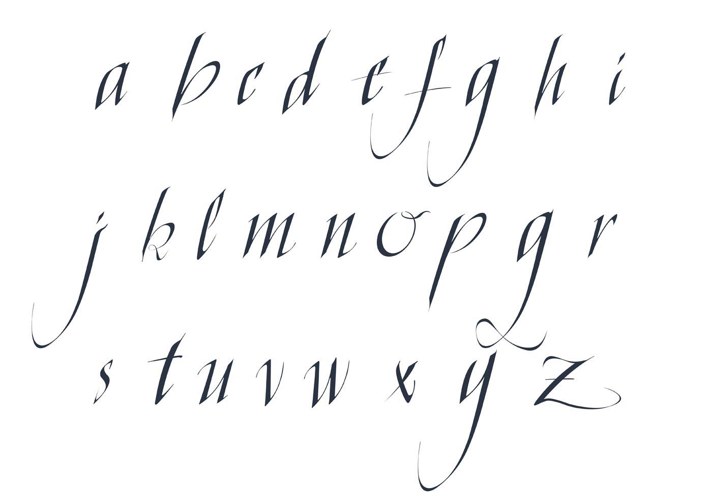 Cursive Letters Chart Fancy