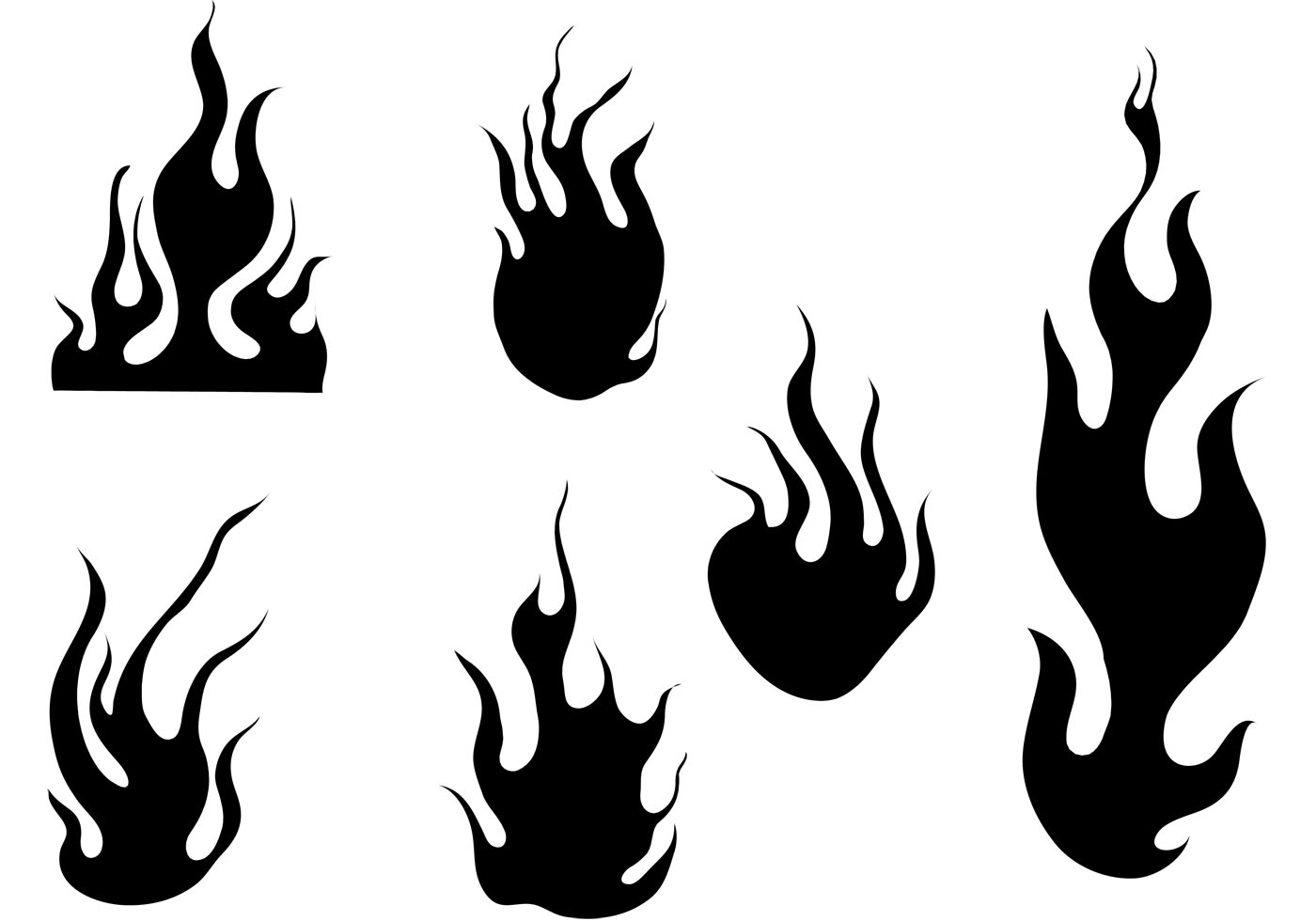 Fire And Flames Vector Set