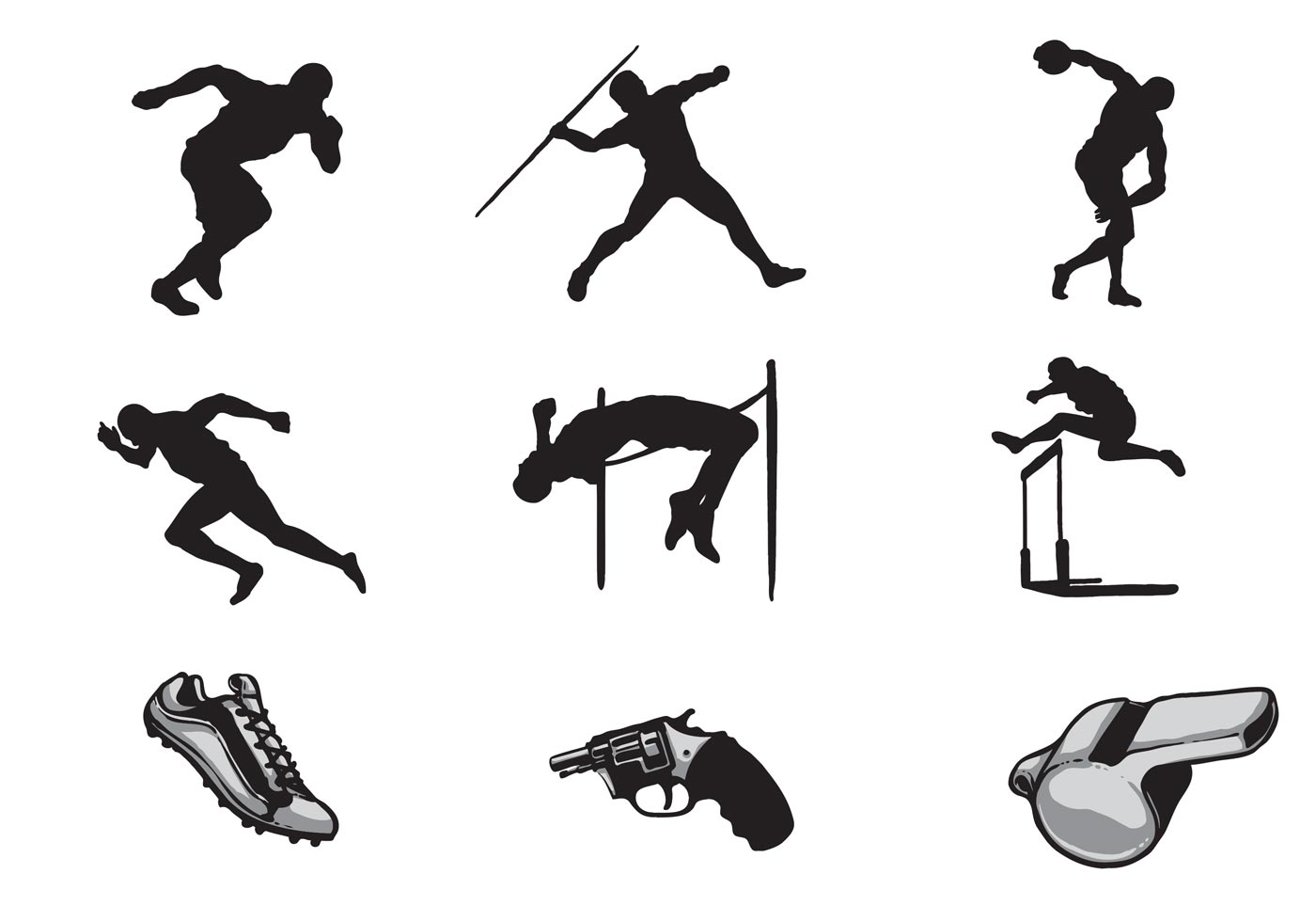 Free Track And Field Vectors