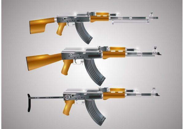 Gun Shape Vectors - Free Vector Art Stock