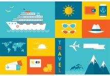 Free Flat Travel Vector Icons - Vectors