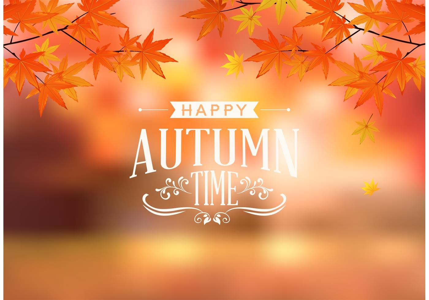 Cute Owl Wallpaper Border Happy Autumn Typography Vector Download Free Vector Art