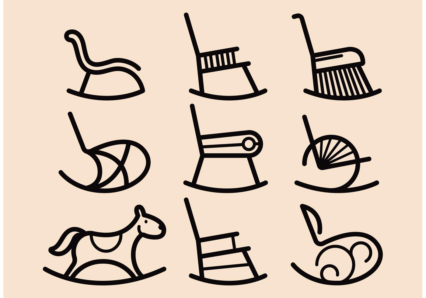 office chair vector little tikes table and rocking icons download free art