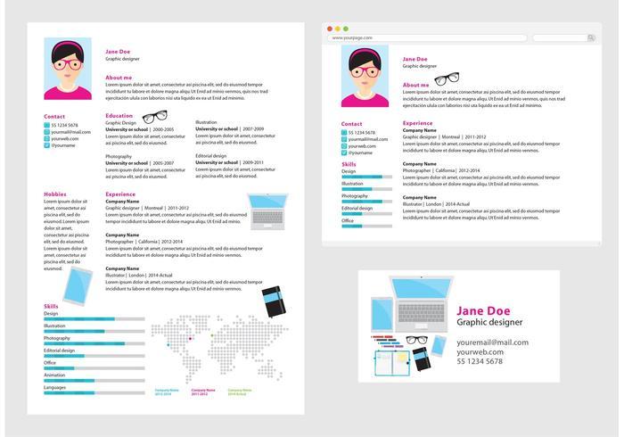 Vector Curriculum Vitae Graphic Designer Download Free