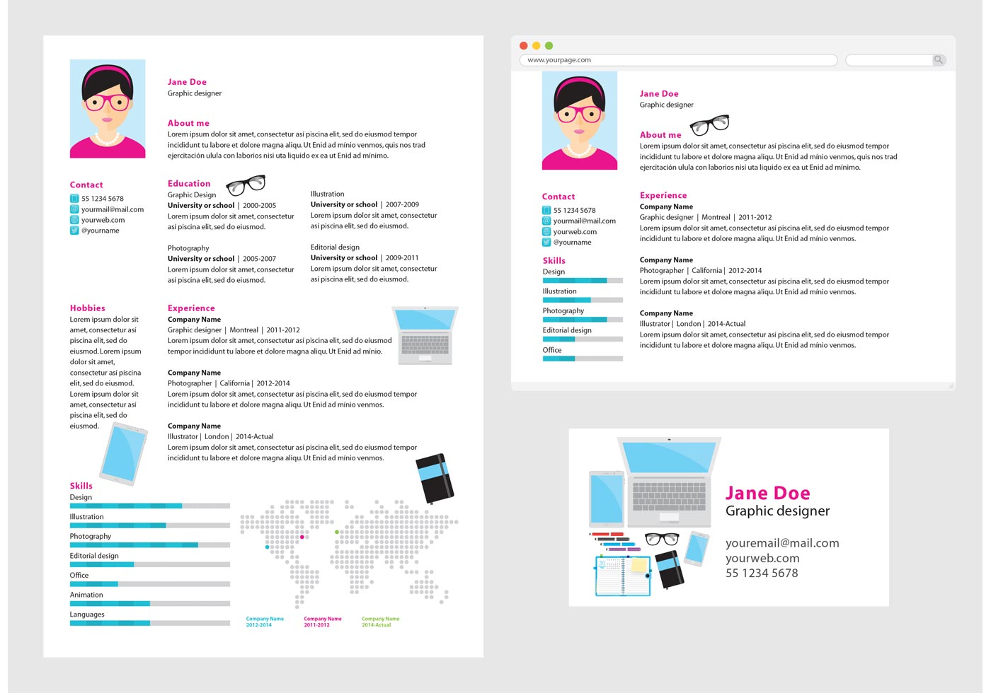 Resumes Online Inc Vector Curriculum Vitae Graphic Designer Download Free
