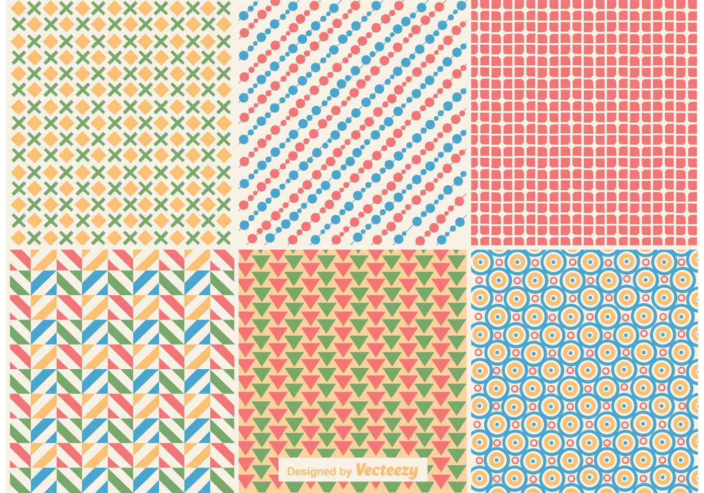 Vector Wallpaper Fall Colors Geometric Retro Background Patterns Download Free Vector