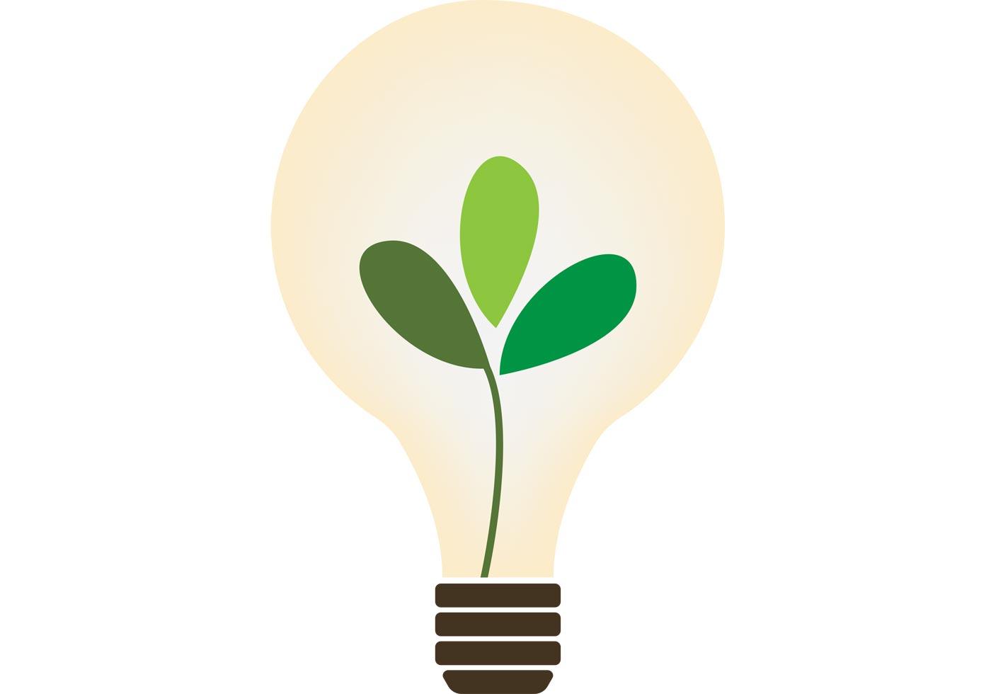 Organic Lightbulb Vector
