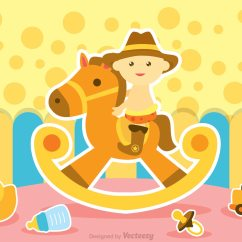 Rocking Game Chair Folding Orange Baby Ride Horse Vector - Download Free Art, Stock Graphics & Images