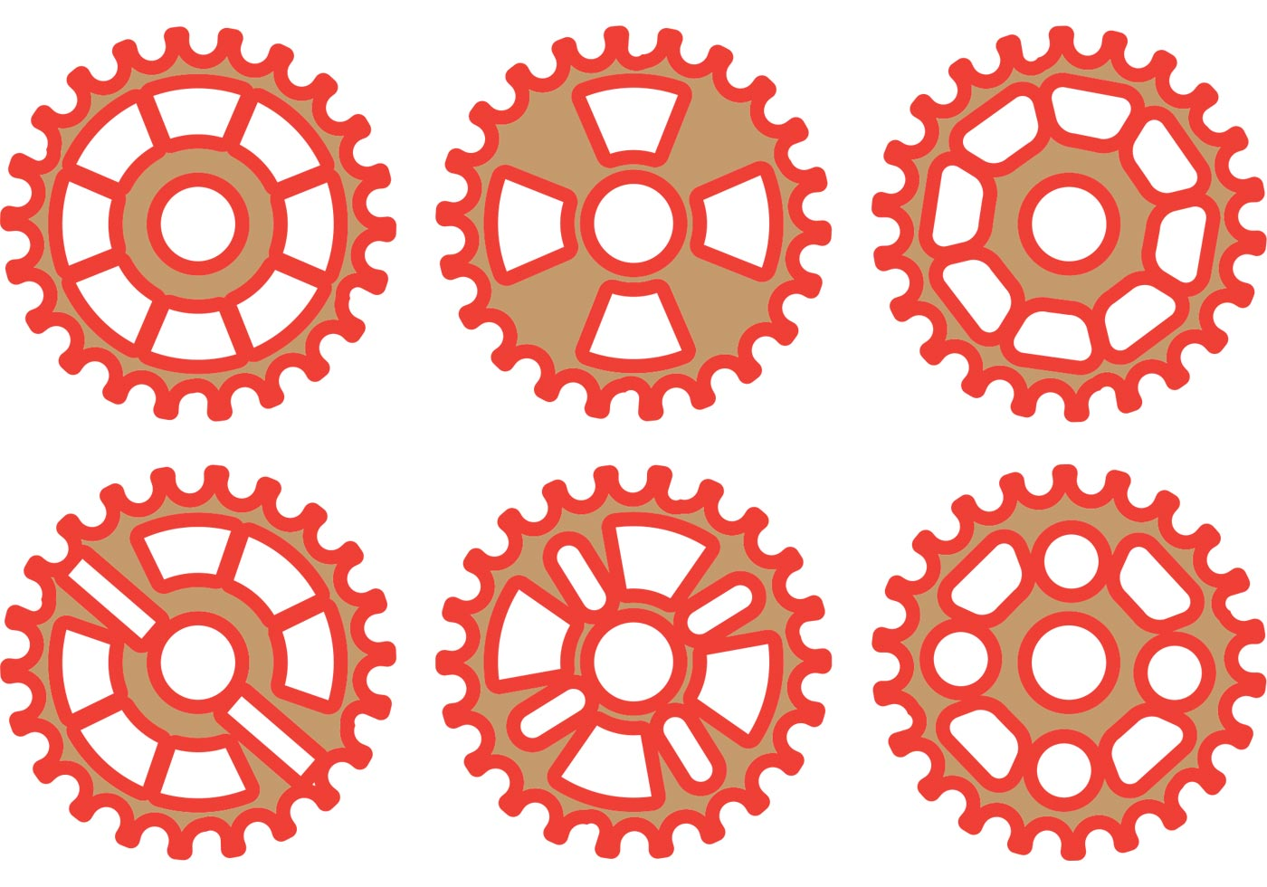 Red Bike Sprocket Vector Pack Download Free Vectors