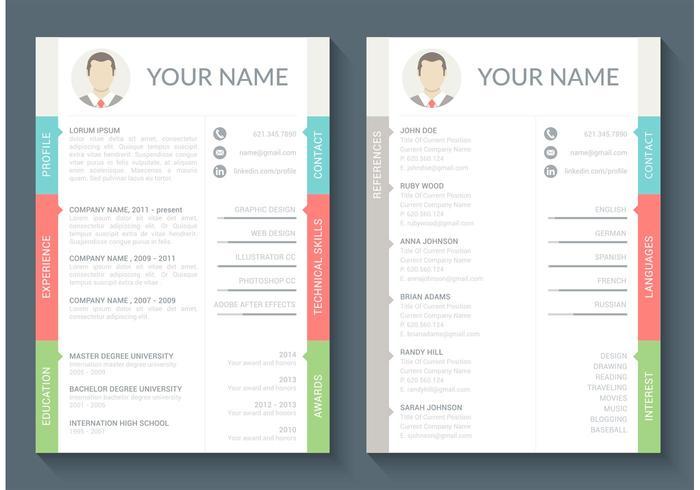 Curriculum Vitae Vector Template Download Free Vector