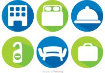 Hotel Icons Vector Free